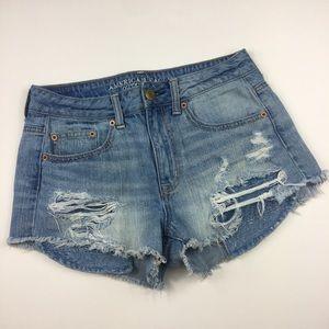 {American Eagle} Hi-Rise Festival Jean Shorts